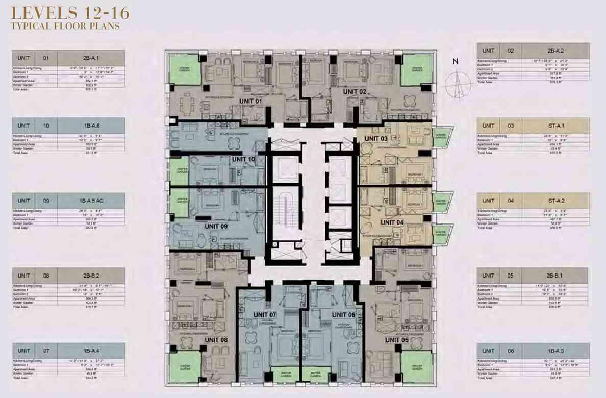 Damac Tower - L12 - L16 Floor Plan