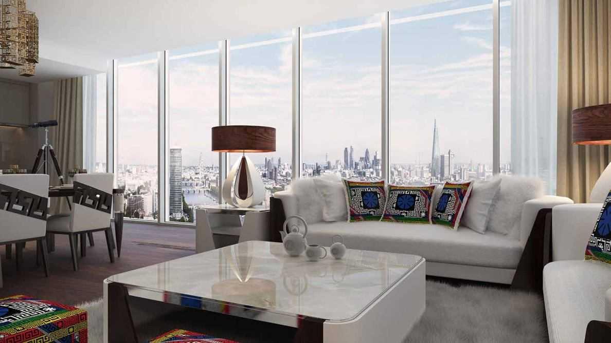 Damac Tower - Living Room