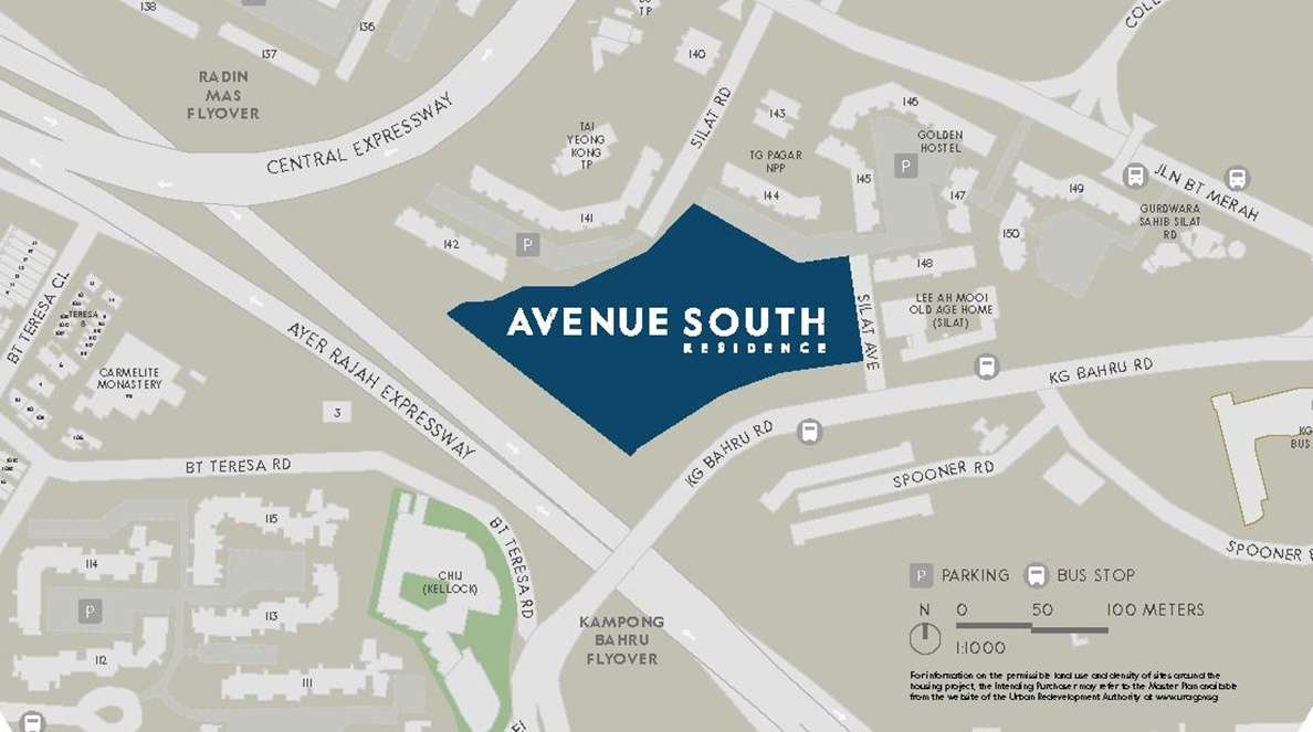 Avenue South Residence - Location Map 1