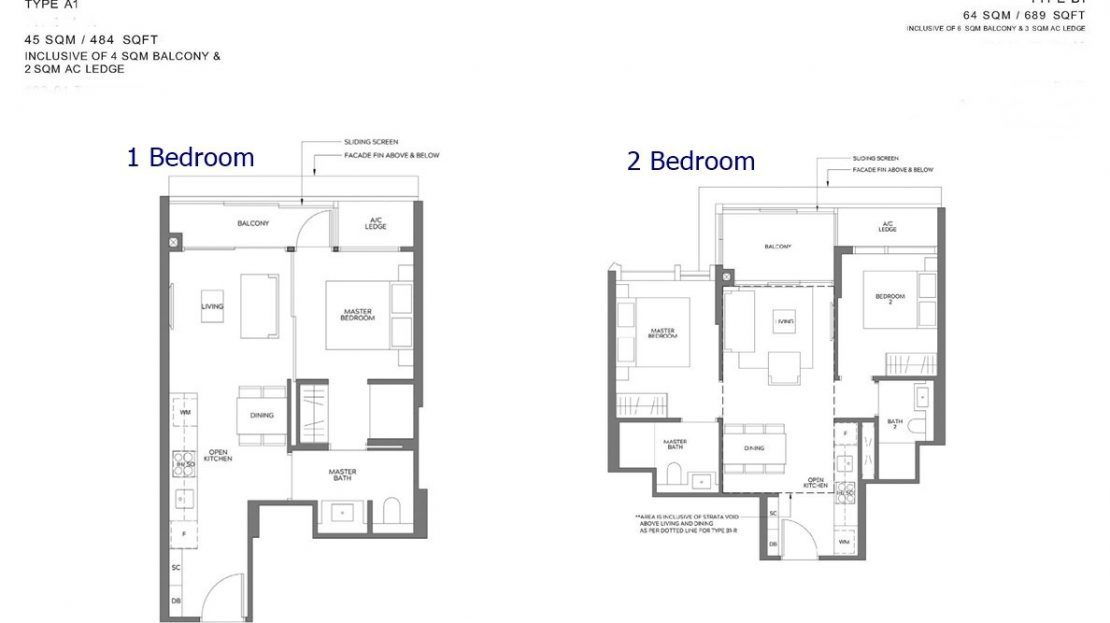 Meyer Mansion - 1&2 Bedroom Floor Plan