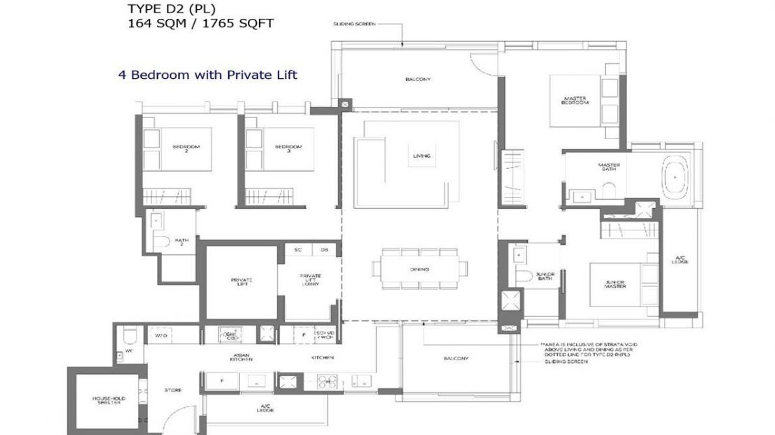 Meyer Mansion - 4 Bedroom Floor Plan