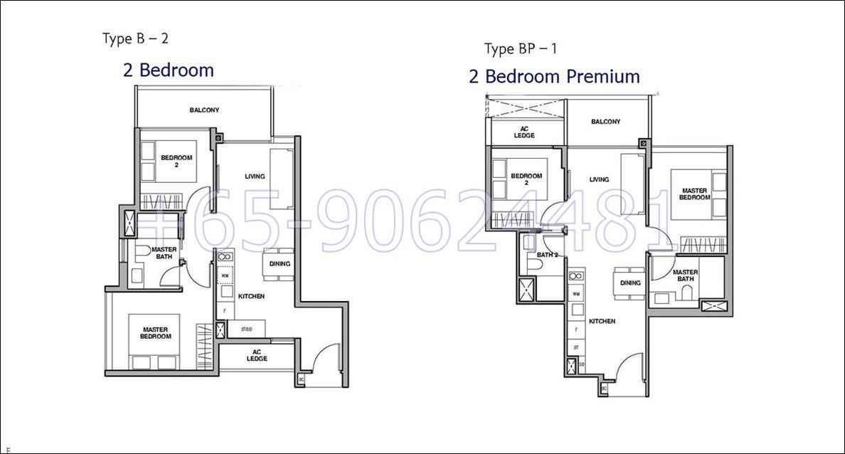 RoyalGreen- 2 Bedroom Floor Plan