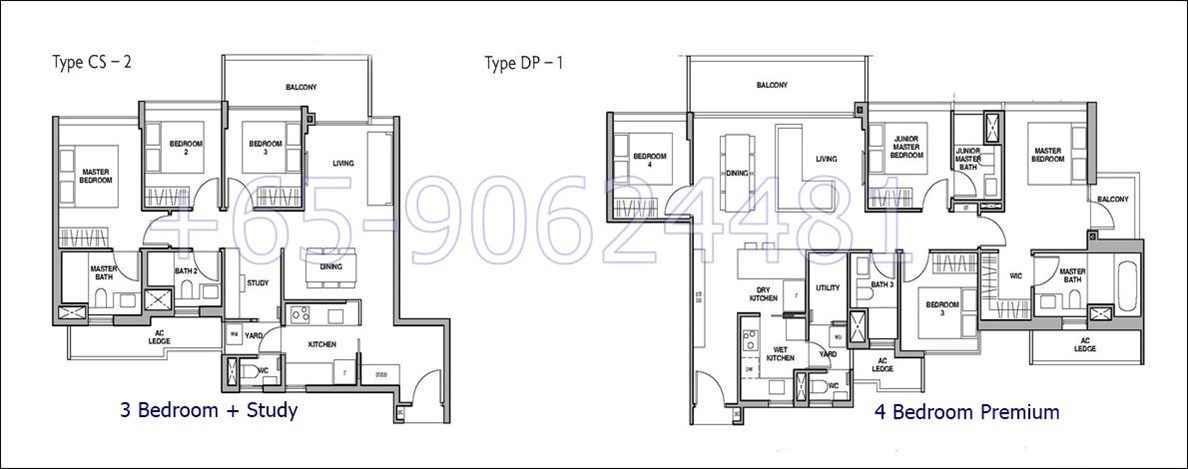 RoyalGreen- 3+S and 4 Bedroom Floor Plan
