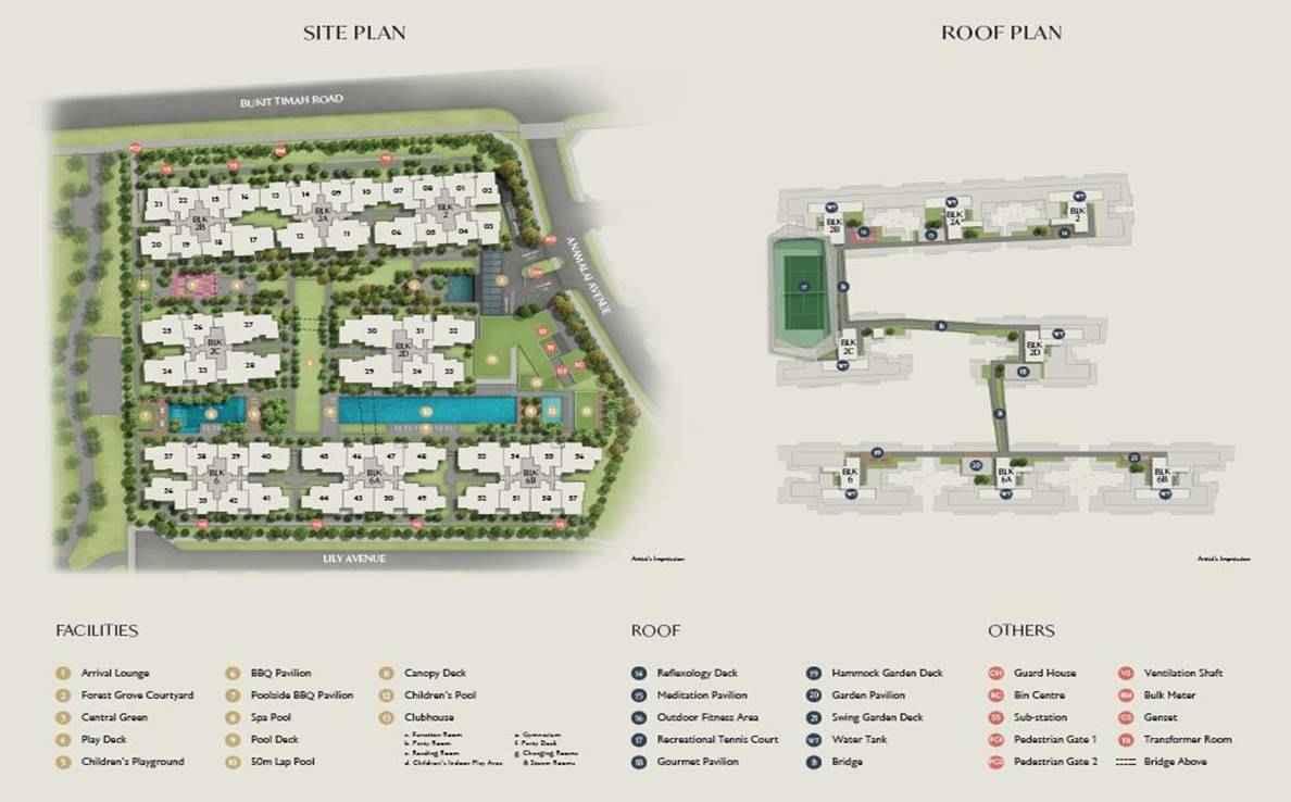 RoyalGreen - site plan with legend