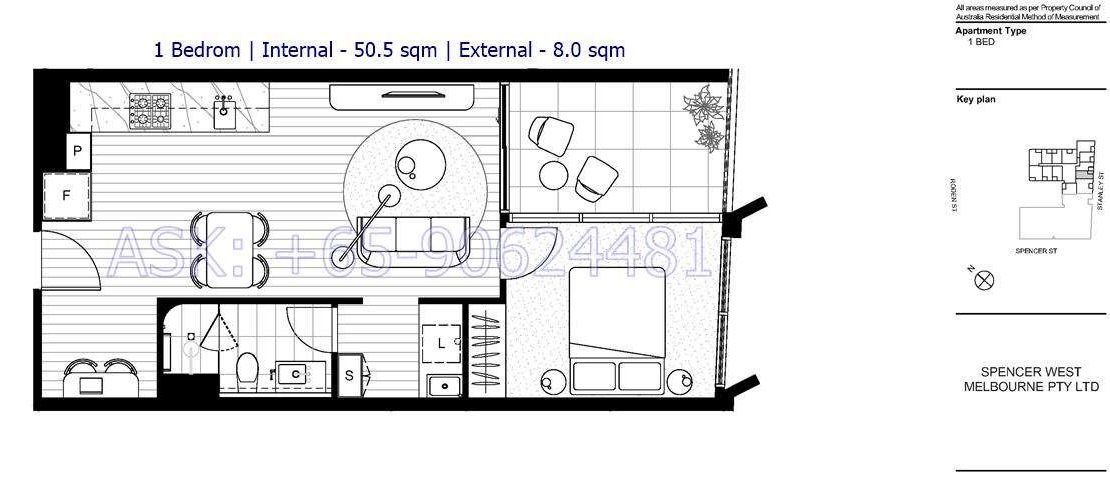 The Marker - 1 bedroom floor plan