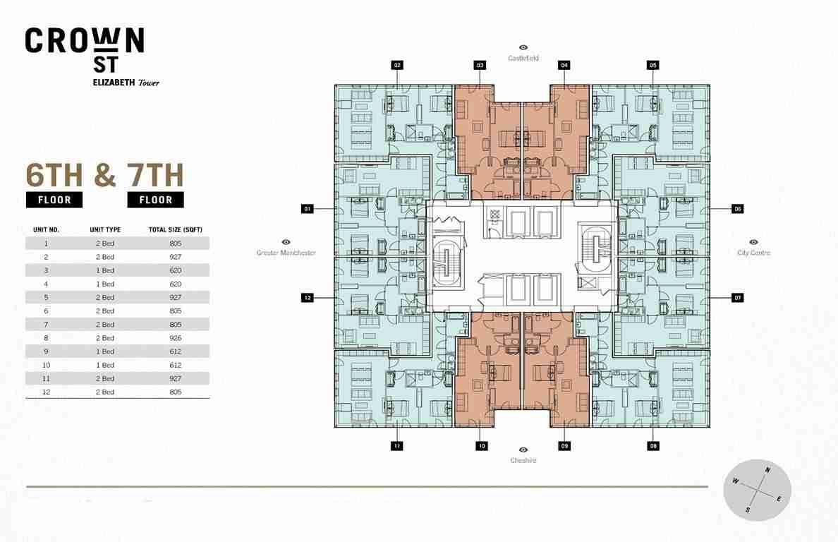 Crown Street Elizabeth Tower - Typical Floor Plan