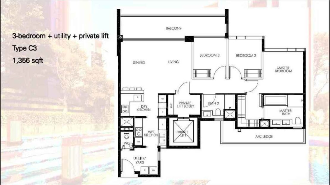 Leedon Green - 3 Bedroom