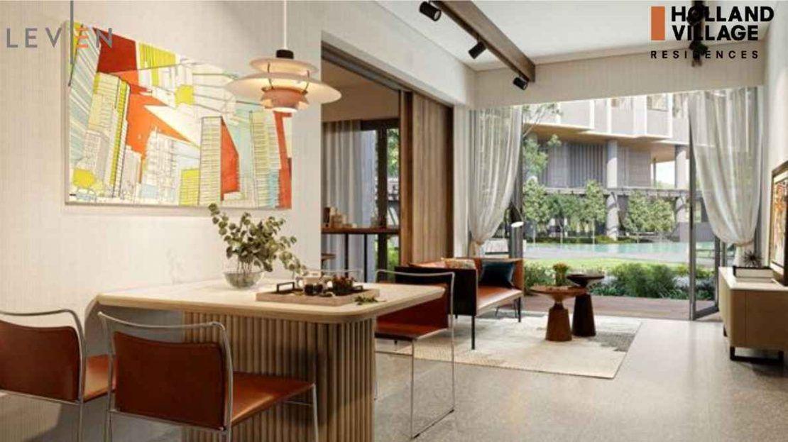One Holland Village Residences - Leven Living room