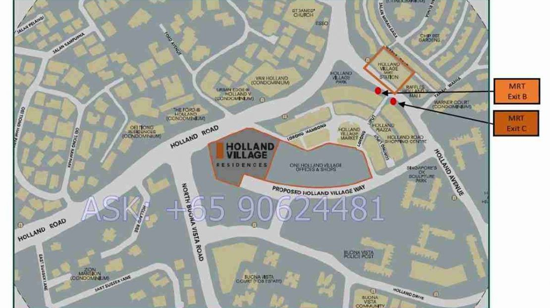 One Holland Village Residences Location site 2