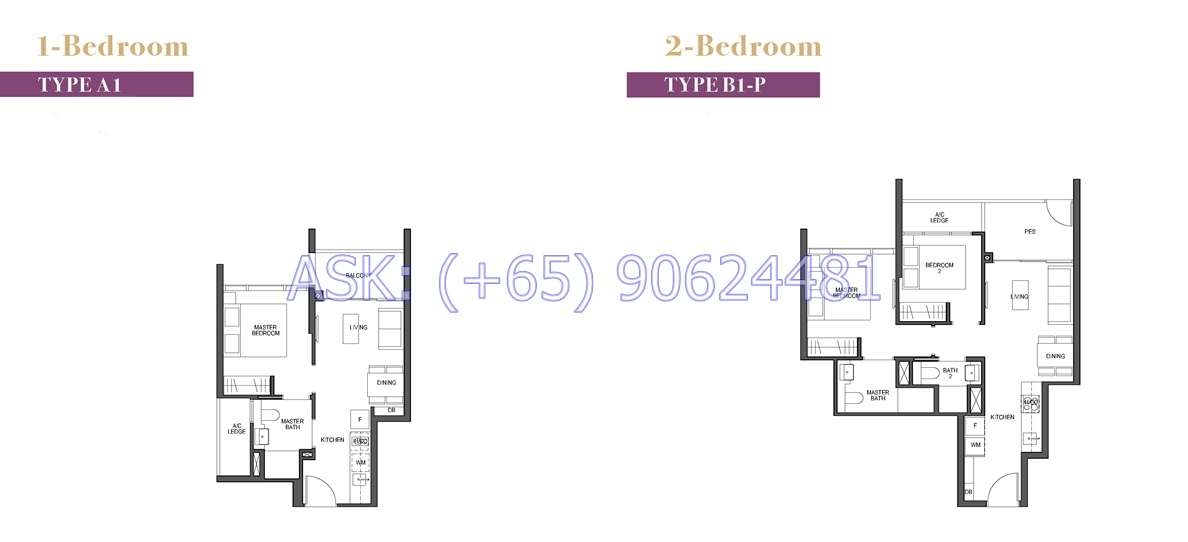 Pullman Residences - 1 & 2BR Floor plan