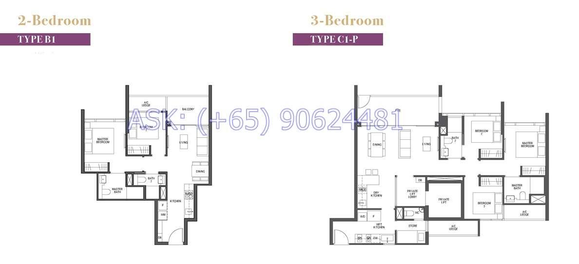 Pullman Residences - 2 & 3BR Floor plan