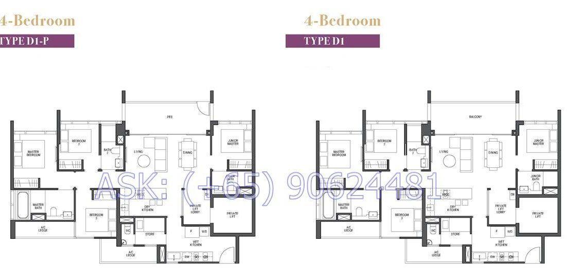 Pullman Residences - 3 & 4BR Floor plan
