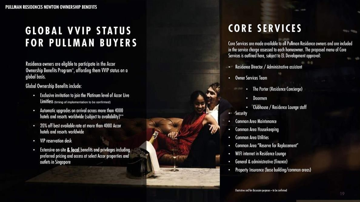 Pullman Residences - Residents Benefits