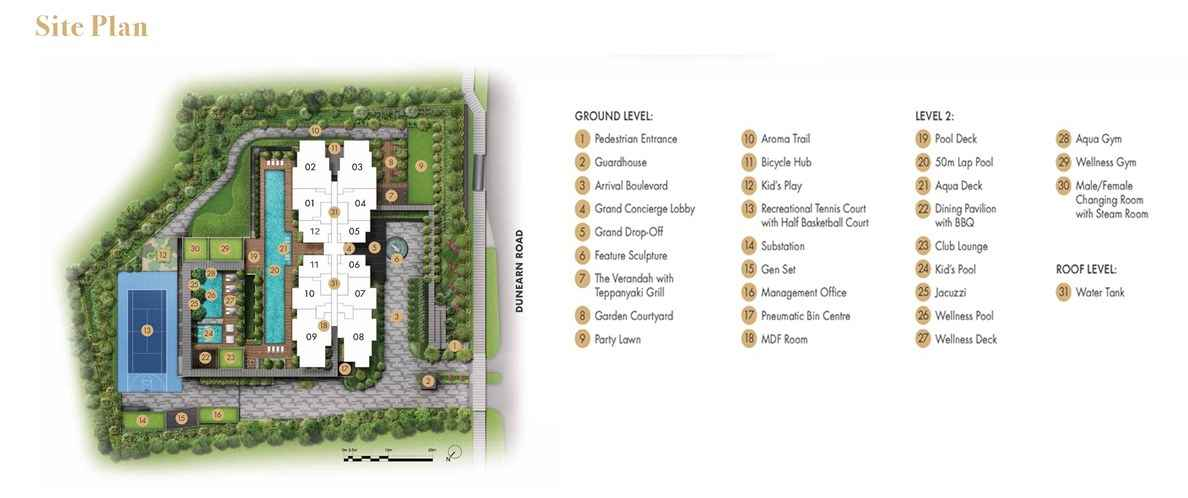Pullman Residences - site plan