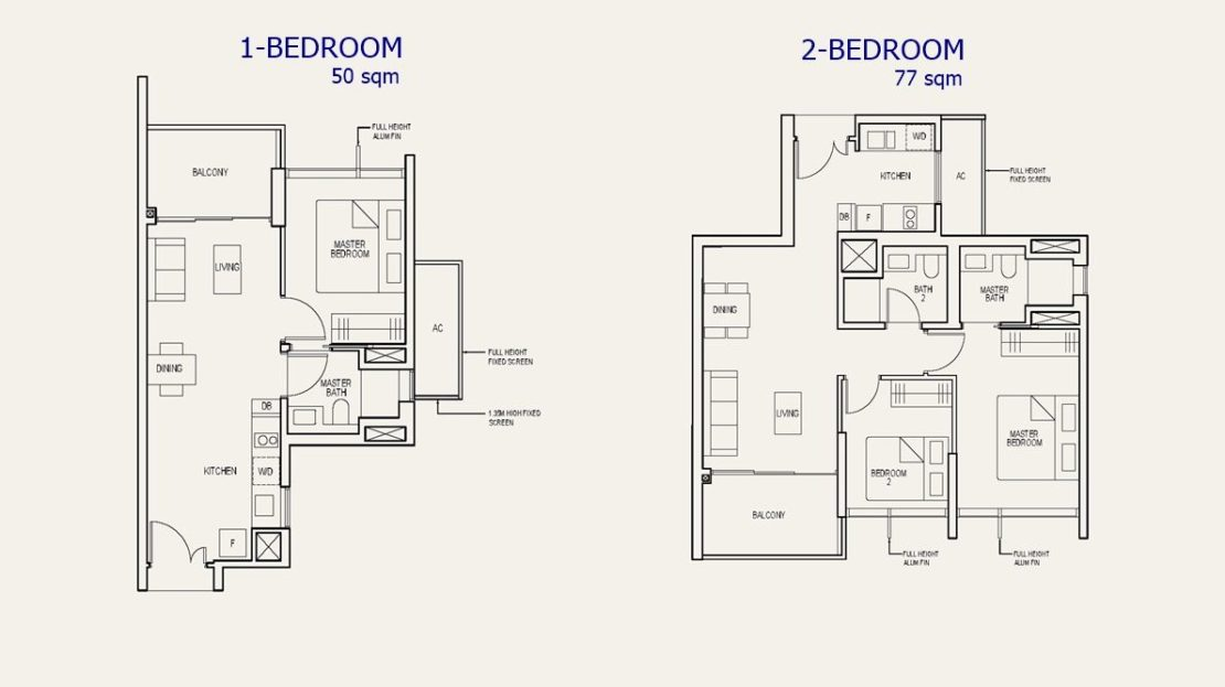 The Avenir - 1 & 2 Bed Floor Plan