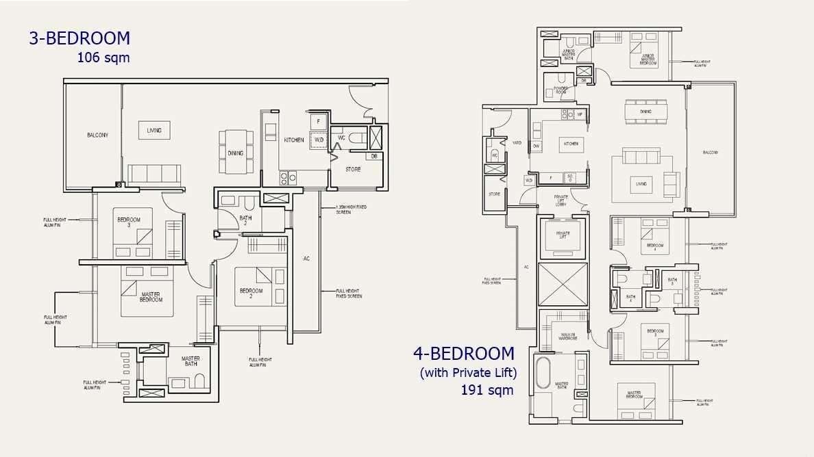 The Avenir - 3 & 4 Bed Floor Plan