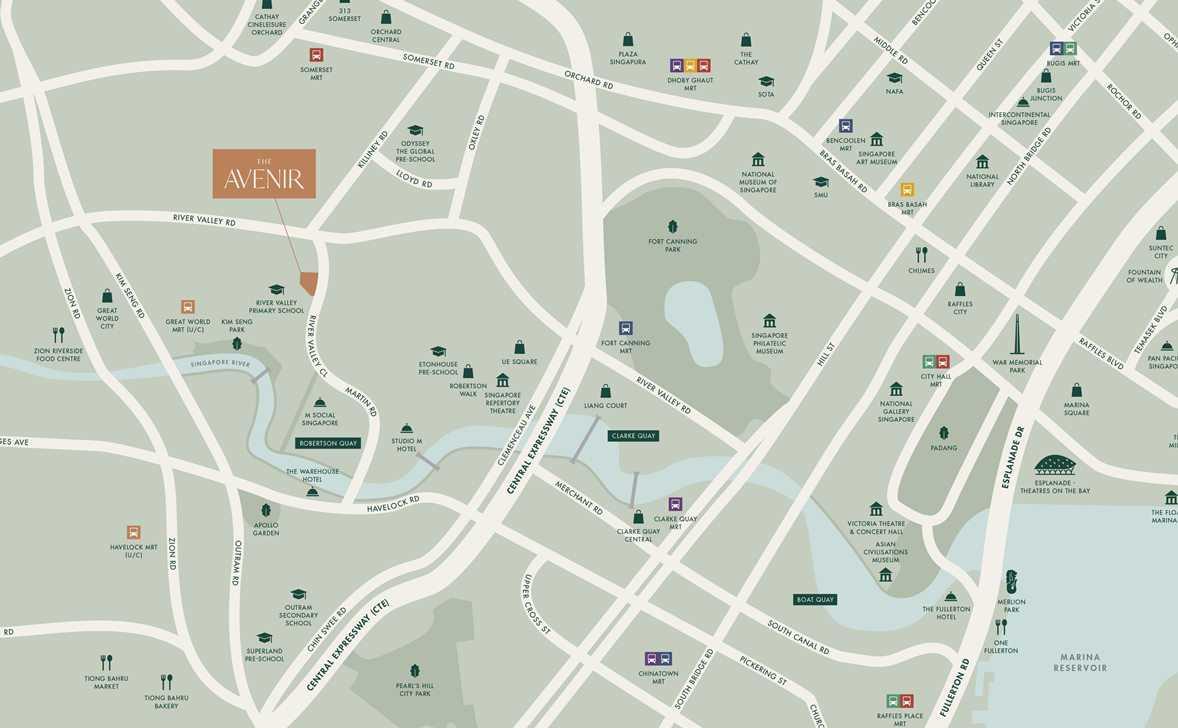 The Avenir-Location Map 1