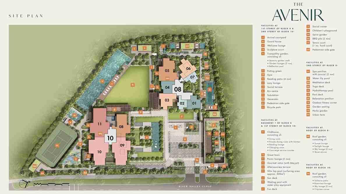 The Avenir Site Plan