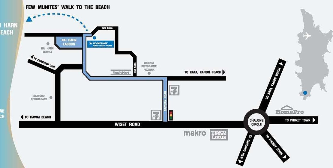 Wyndham Grand - Phuket Location Map