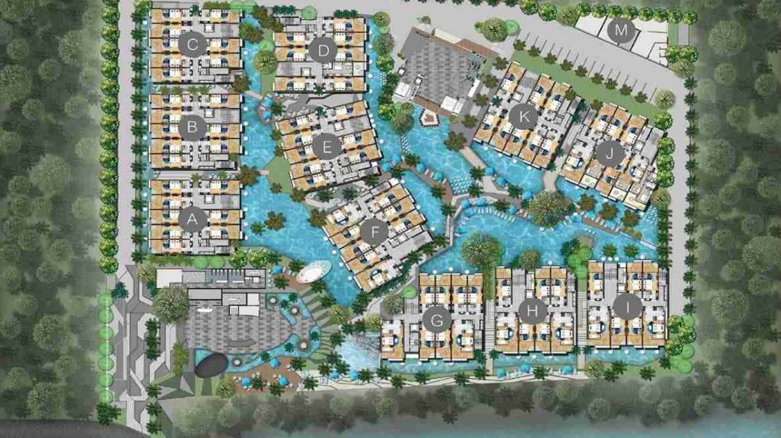 Wyndham Grand Nai Harn Beach - Site Plan