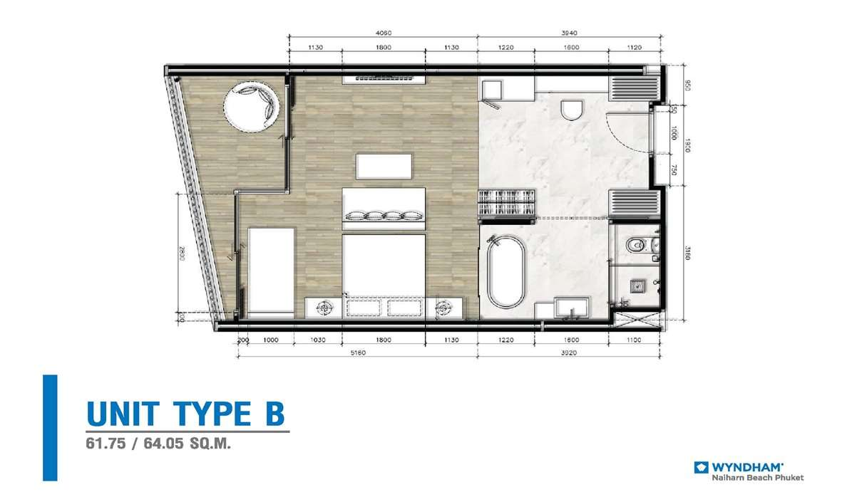 Wyndham Grand - Type B Floor Plan
