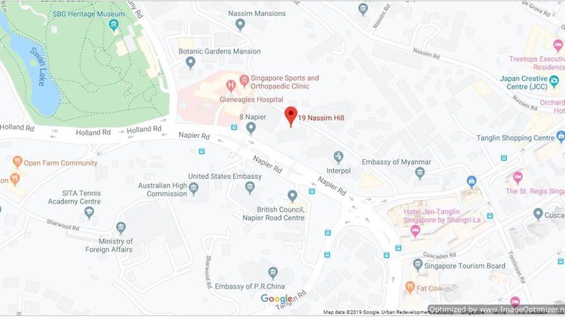 19 Nassim location map