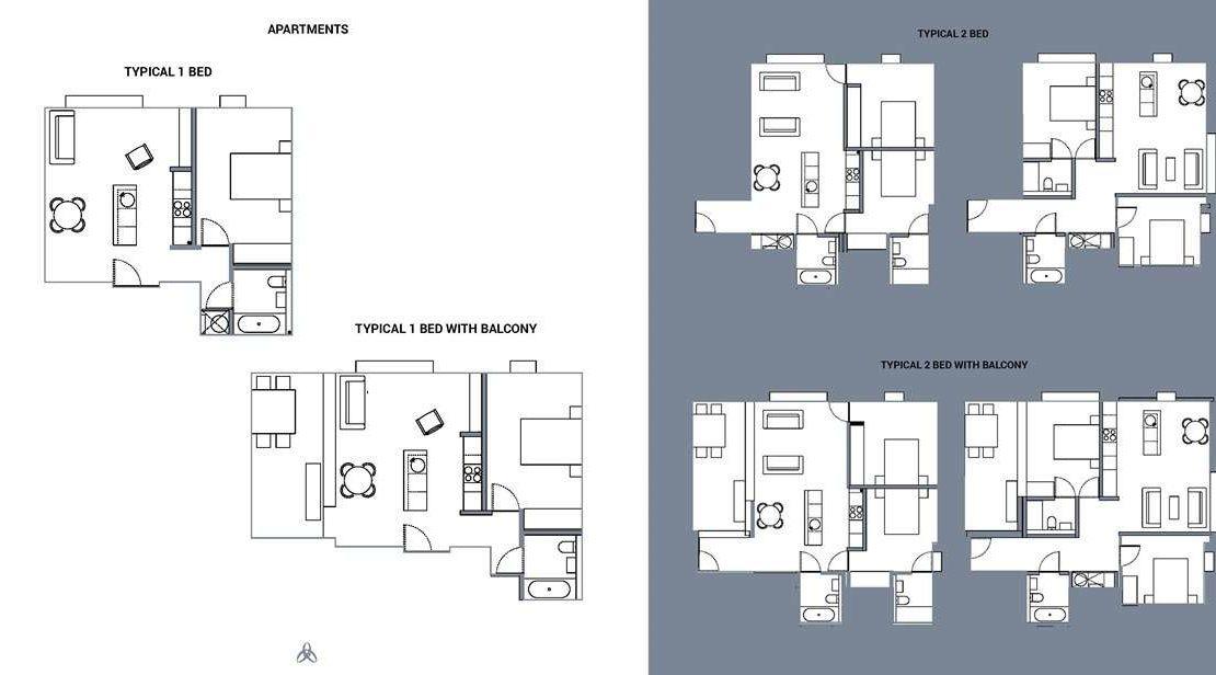 Uptown Riverside Manchester - Typical Bedroom Plan