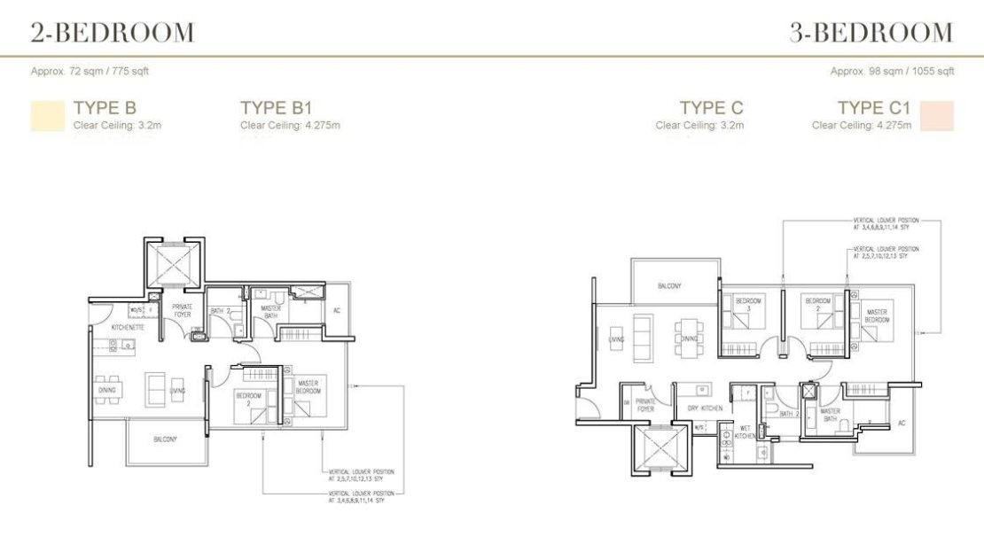 Cairnhill 16 - 2 and 3 Bedroom