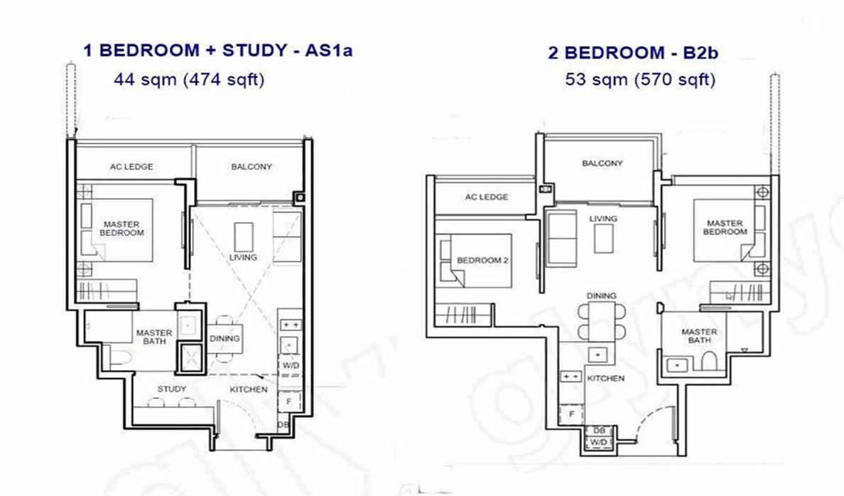Forett - 1+S and 2BR Compact