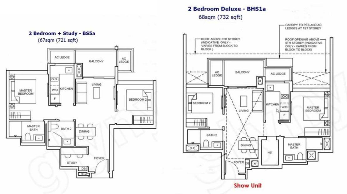 Forett - 2 Bedroom Floor Plan