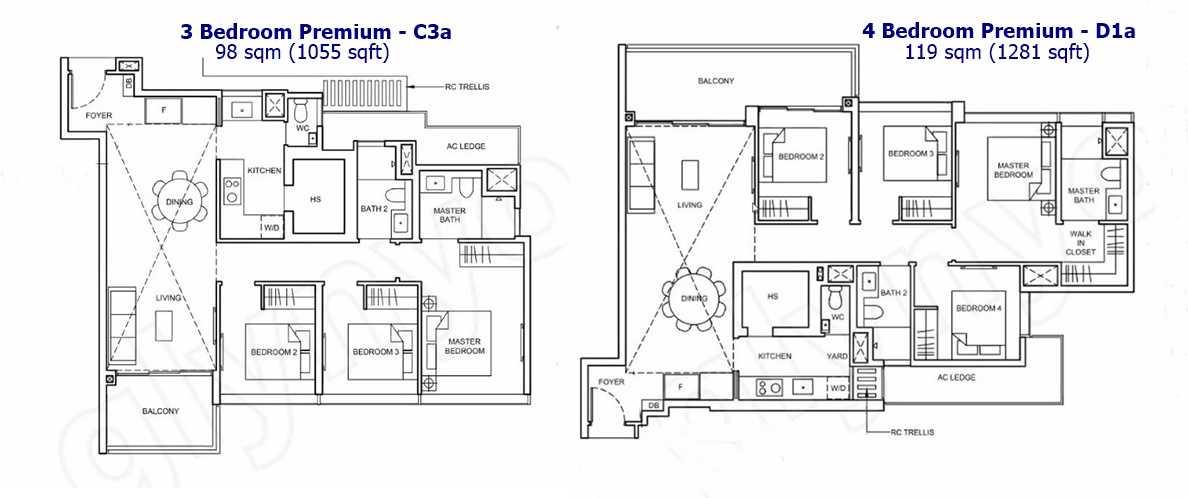 Forett - 3 BR and 4 BR Premium Floor Plan