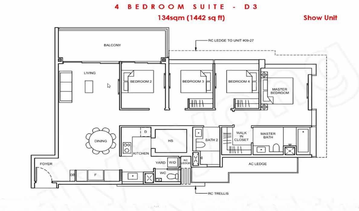 Forett - 4 BR Suite show flat