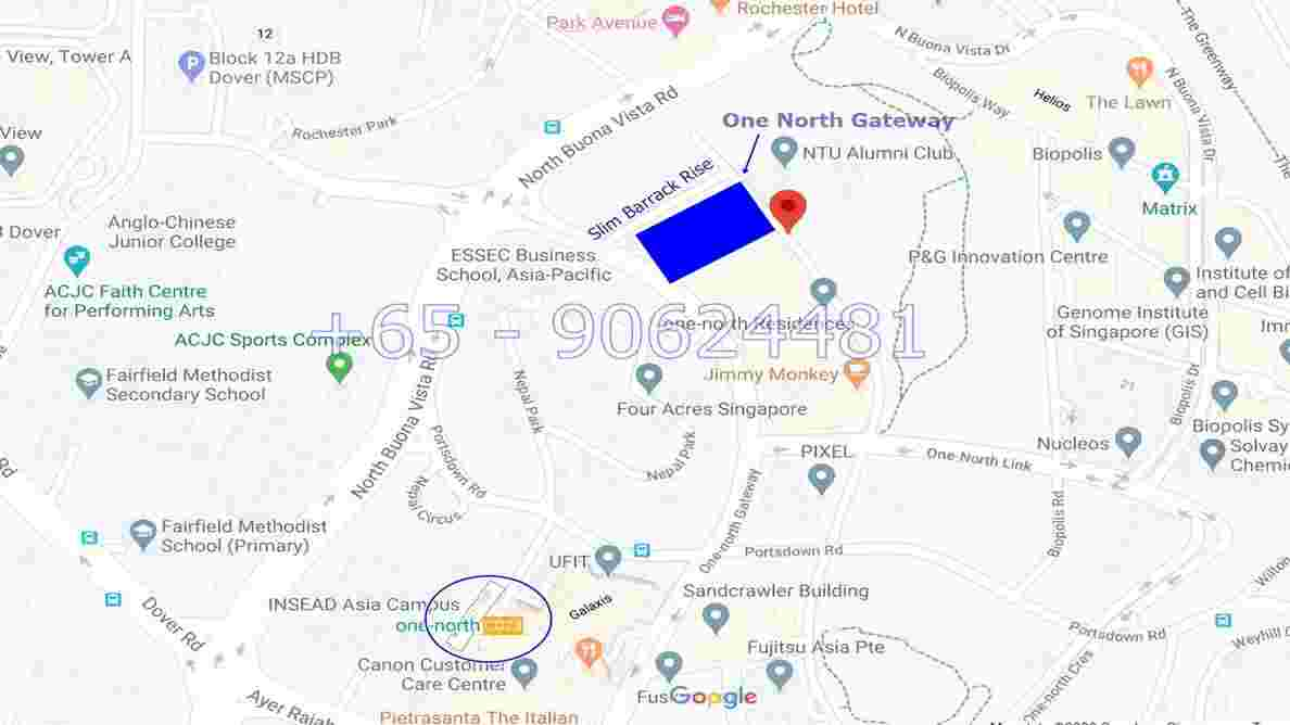 One North Gateway Location Map