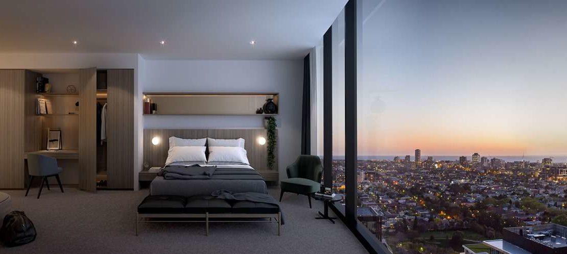 Yarra One - Bedroom