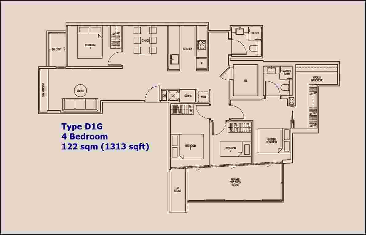 NoMa - 4 BR Type D1G