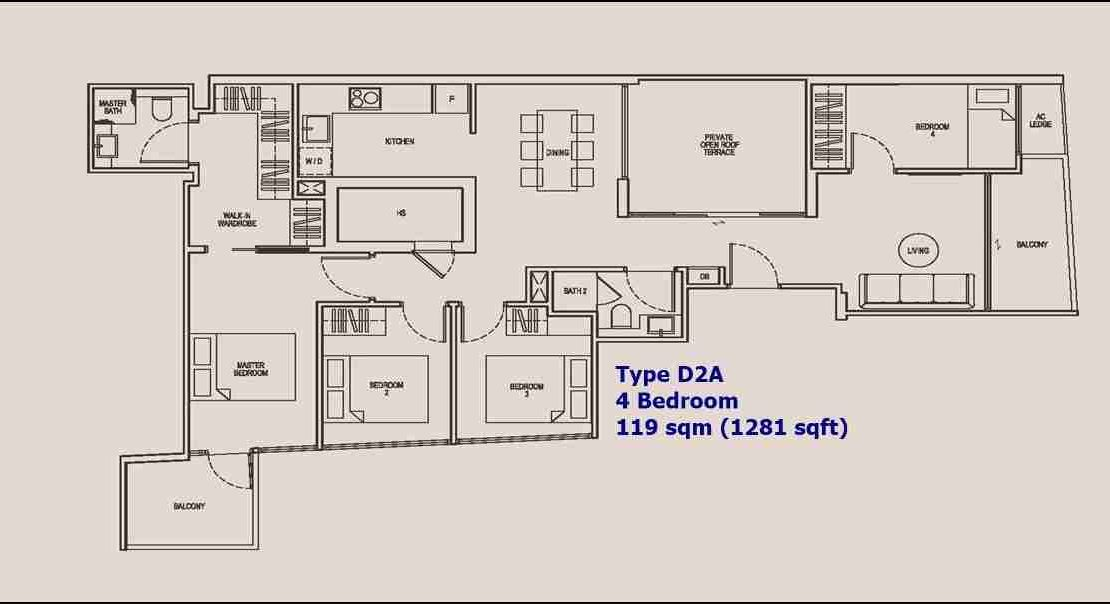 NoMa - 4 BR Type D2A