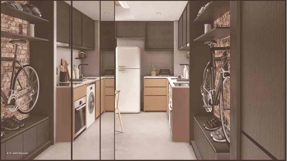 NoMa - Foyer and Kitchen