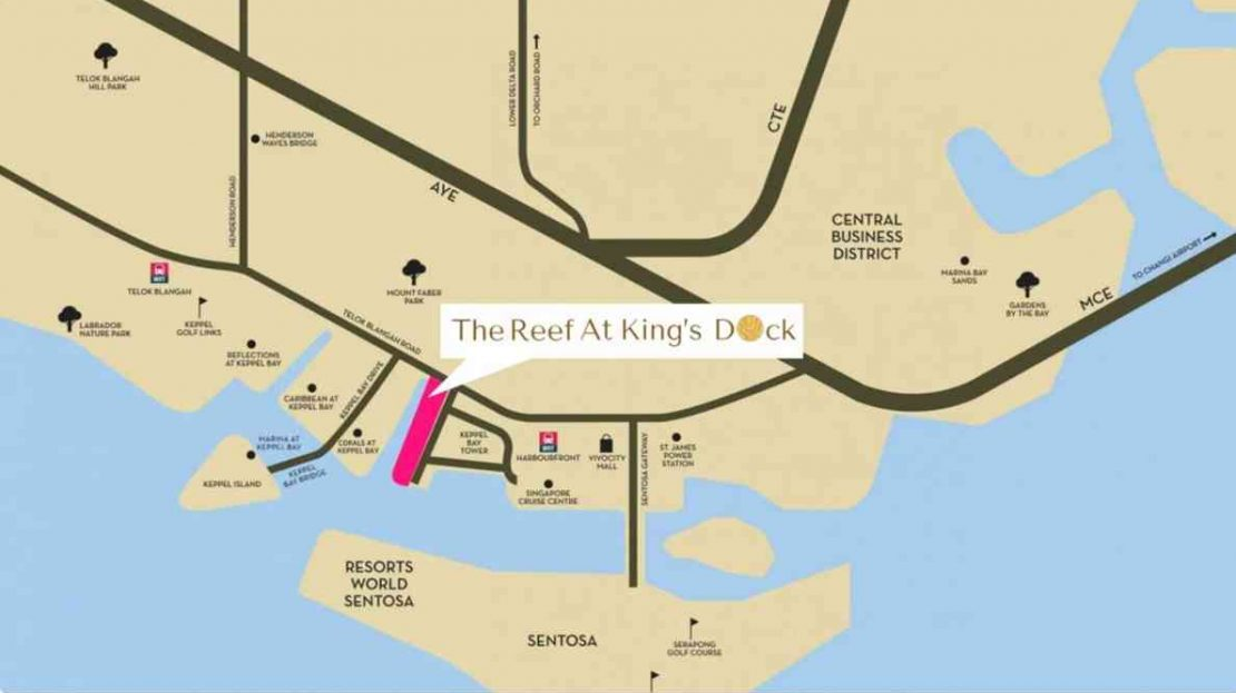The Reef location map