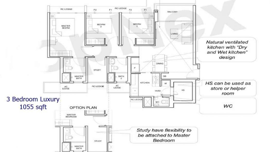Parc Central Residences - 3 BR Luxury 1055sf
