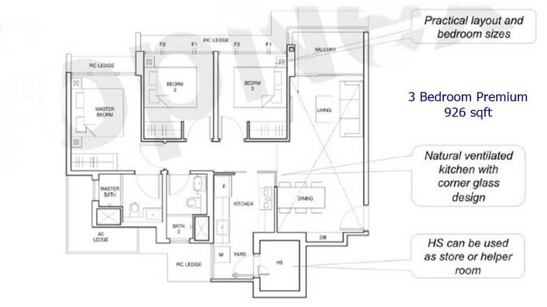 Parc Central Residences - 3 BR premium