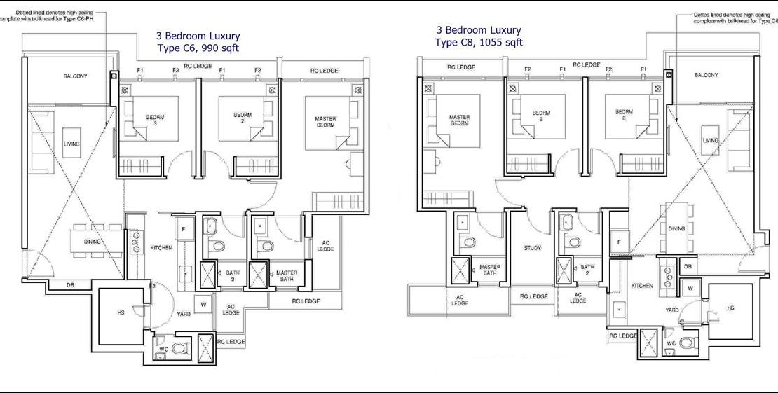 Parc Central Residences Floor Plans - 3 Bedroom Luxury