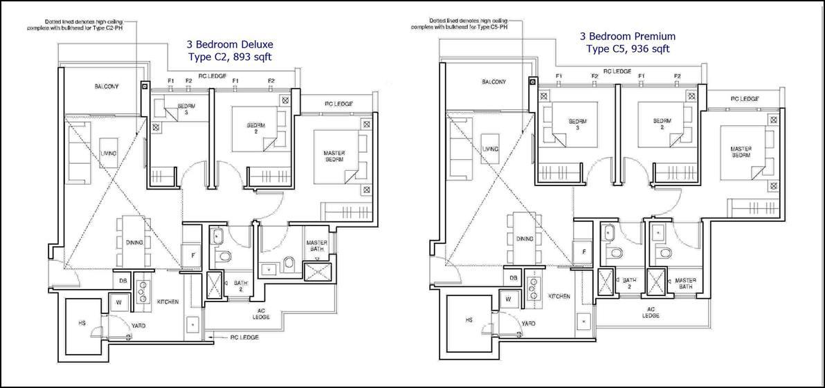 Parc Central Residences Floor Plans - 3 Bedroom