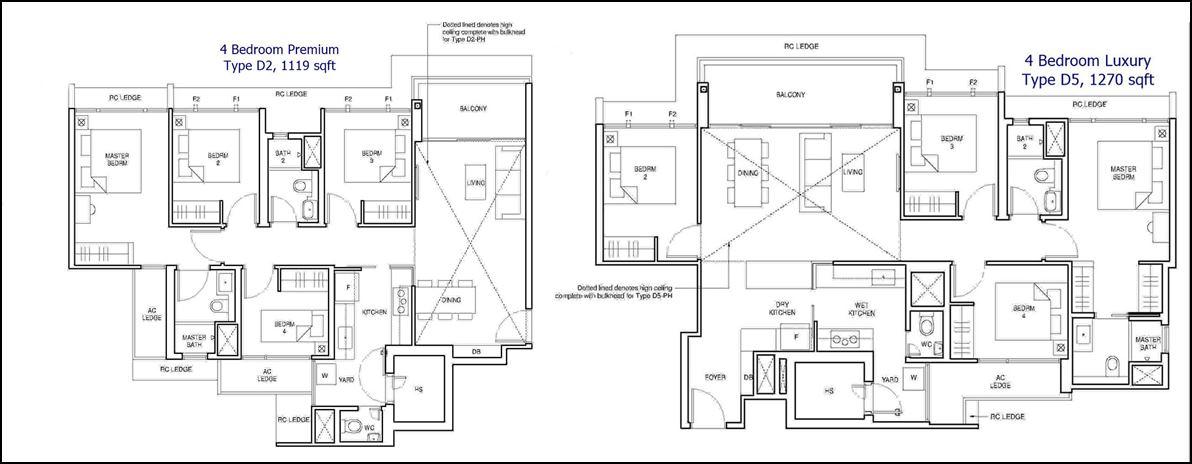Parc Central Residences Floor Plans - 4 Bedroom