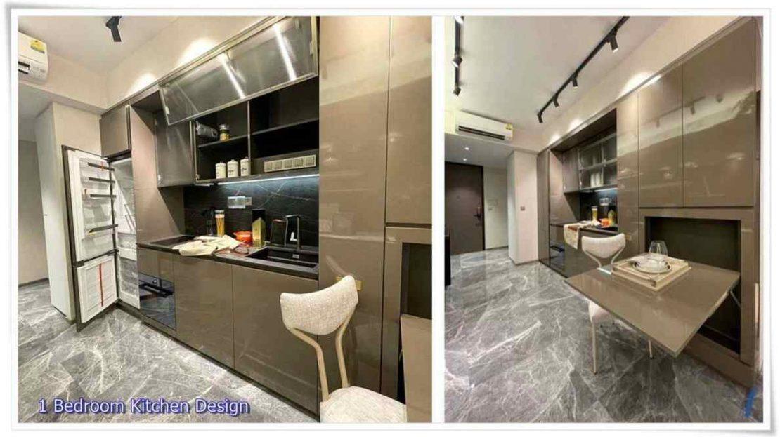 One Bernam - 1 BR Kitchen design