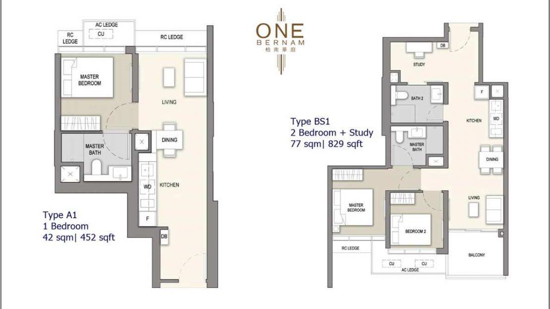 One Bernam - Typical Floor Plan