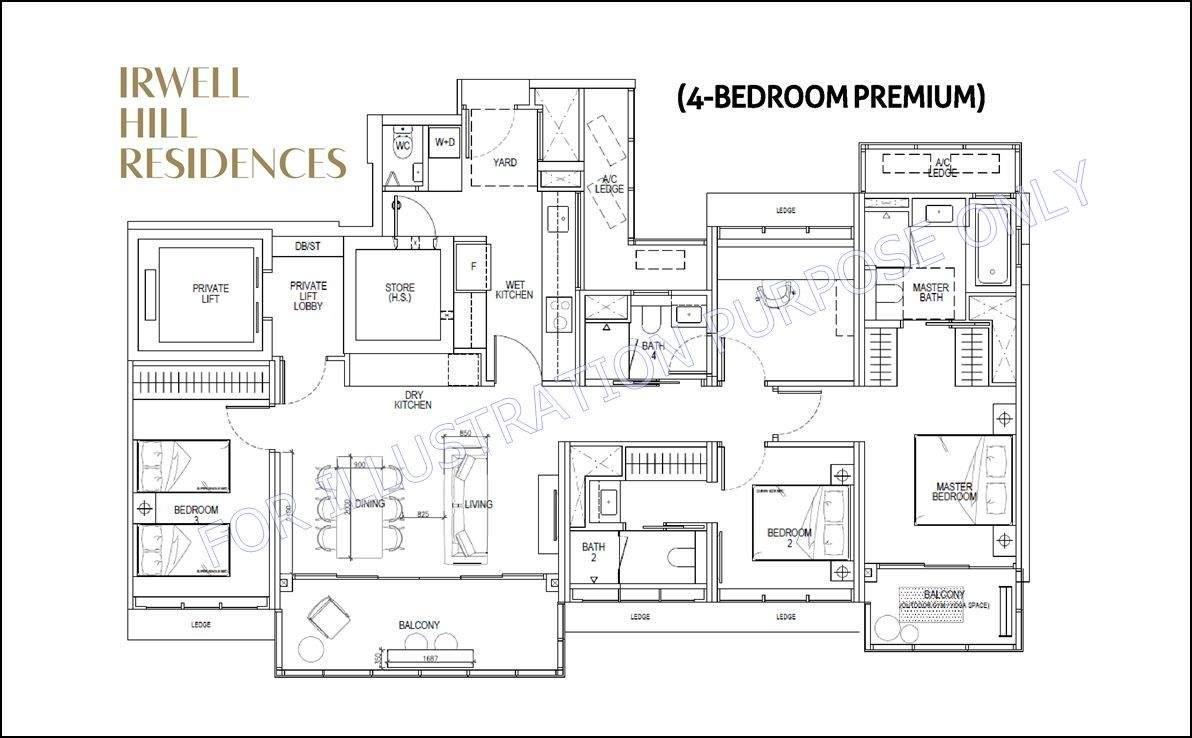 Irwell Hill Residences - 4 BR floor plan 1