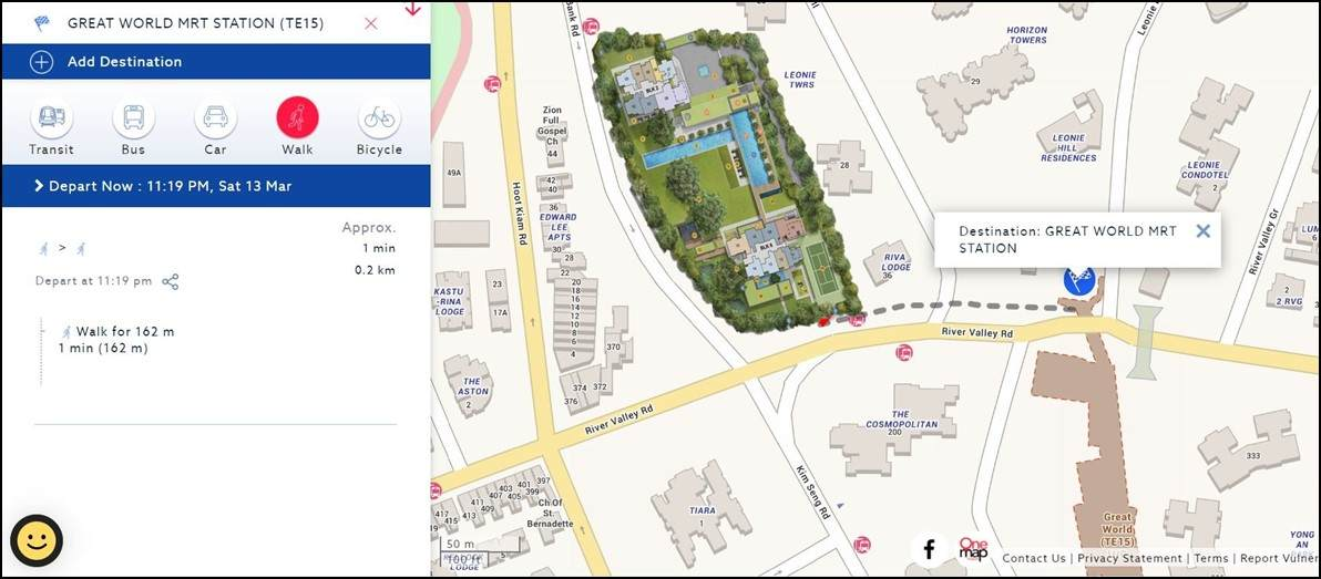 Irwell Hill Residences - Distance to Great World MRT-compressed