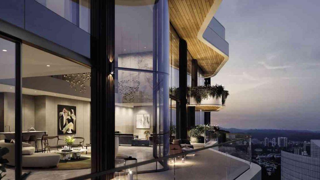 Park Nova - Living Room Nite View