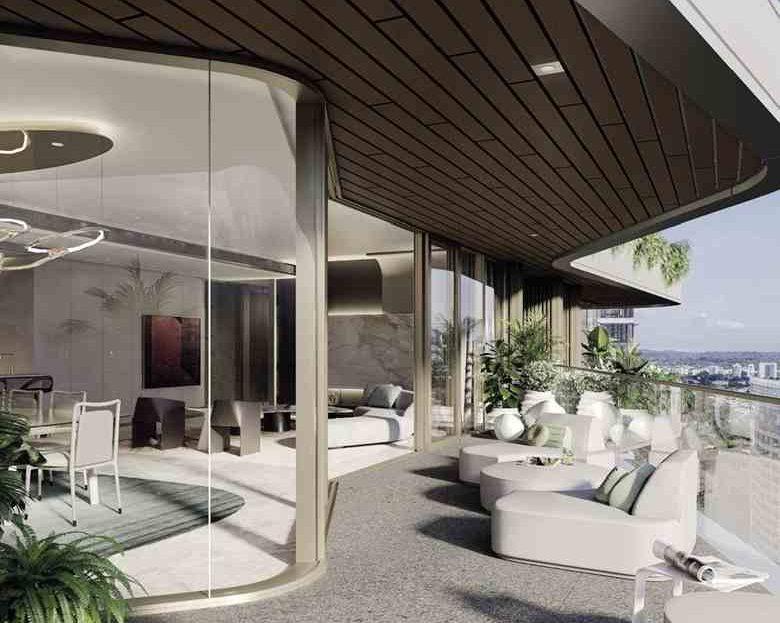 Park Nova - Living room and balcony