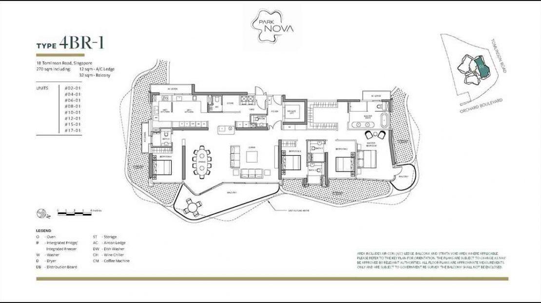 Park Nova - 4 Bedroom floor plan